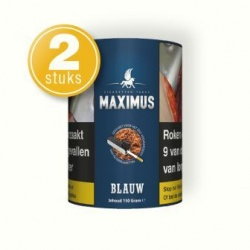 Maximus shag blauw 150 gram (2 pakken)