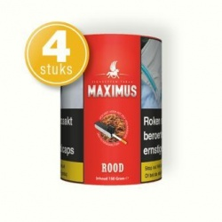 Maximus shag rood smaak 150 gram (4 pakken)