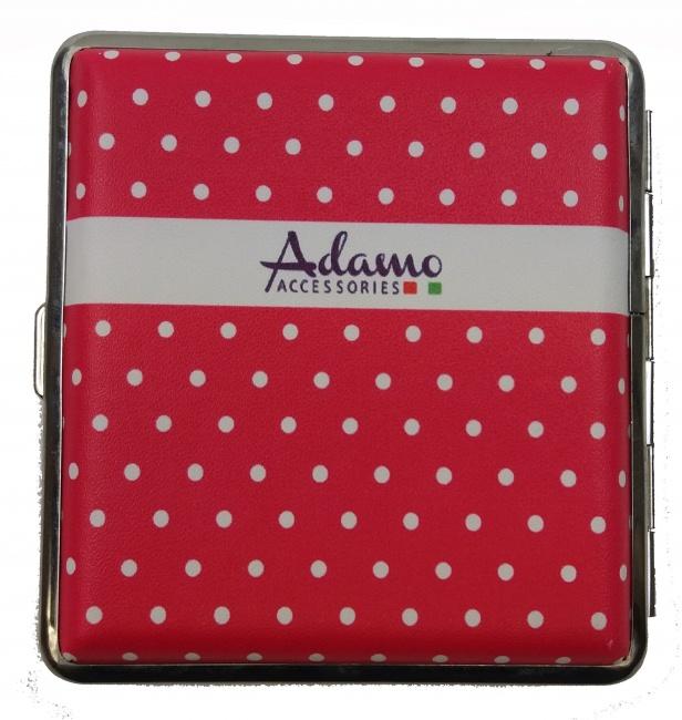 Adamo Sigarettendoosje Roze met witte stippen