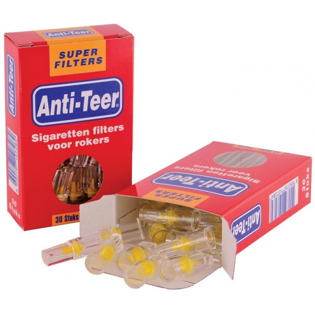 Anti teer sigarettenpijpje (1 doosje ca. 30 filters)