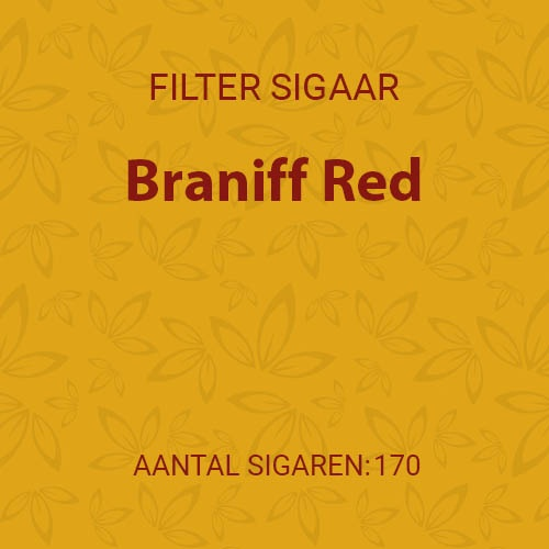 Braniff Red  (10 pakken/ 17 filter cigarillos)