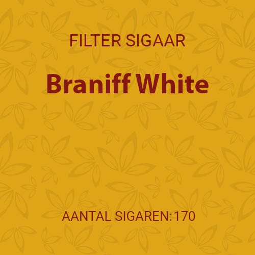Braniff White (10 pakken/ 17 filter cigarillos)