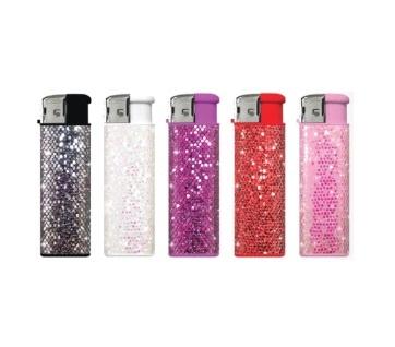 Glitter aansteker Gekleurd (5x)