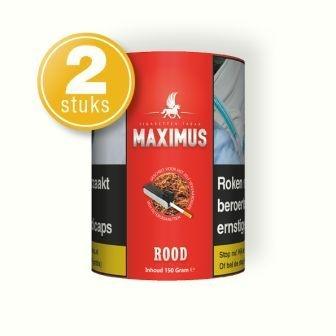 Maximus shag rood 150 gram (2 pakken) - Let op RESERVERING