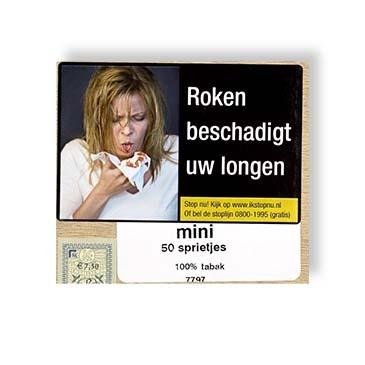 Mini's 50 puur tabak sprietjes