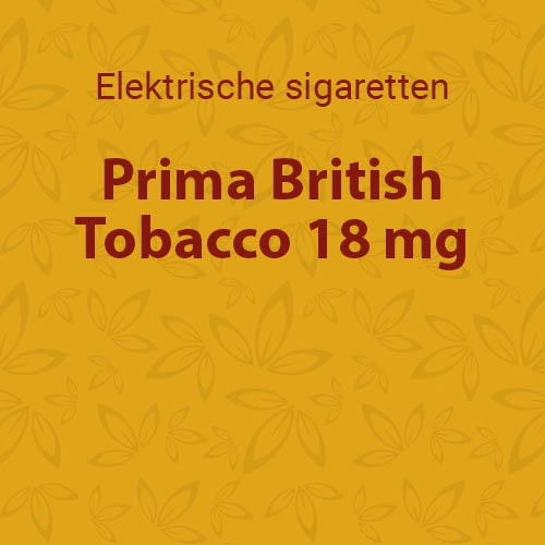 Prima British Tobacco 18 mg