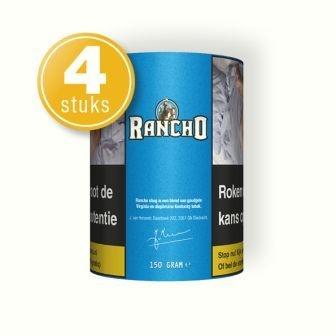 Rancho shag blauw 150 gram (4 pakken)