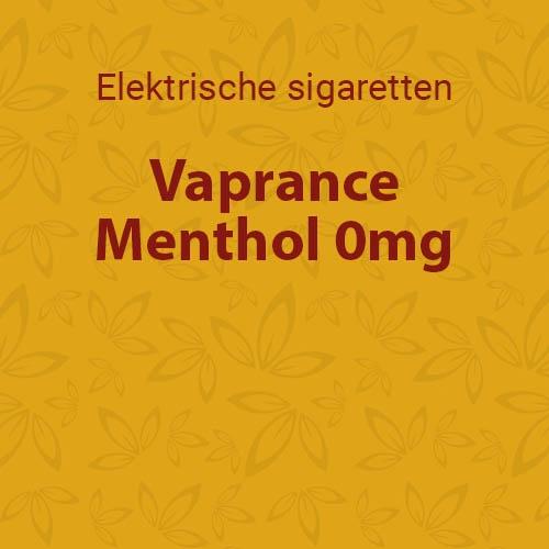 Vaprance Menthol 0mg - 10 flesjes