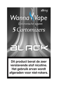 Reservering - Wanna Vape Black 18 mg.
