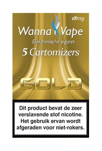 Reservering  -  Wanna Vape Gold 18 mg,