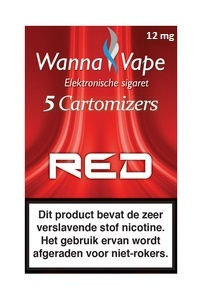 Reservering  -  Wanna Vape Red 12 mg.