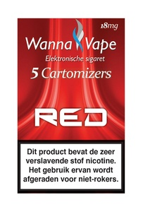 Reservering  -  Wanna Vape Red 18 mg