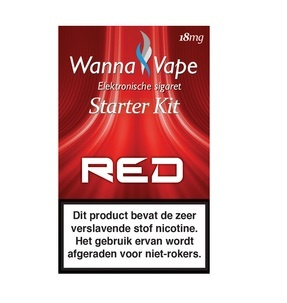 Wanna Vape Starterkit Red 18 mg
