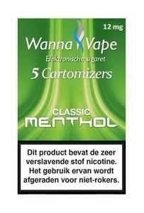 Wanna Vape Classic Menthol 12 mg.
