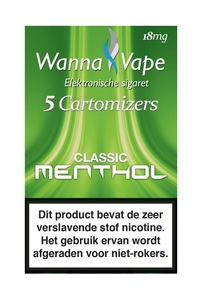 Wanna Vape Classic Menthol 18 mg.